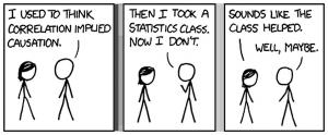 BD illustrant la confusion entre la corrélation et la causalité