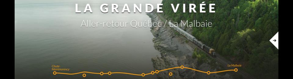 Nouveau site Web pour le Train du Massif de Charlevoix