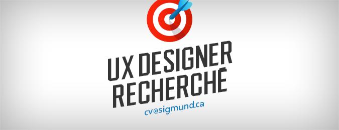 Designer Ux recherché(e)